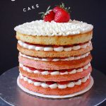Strawberries and cream naked cake