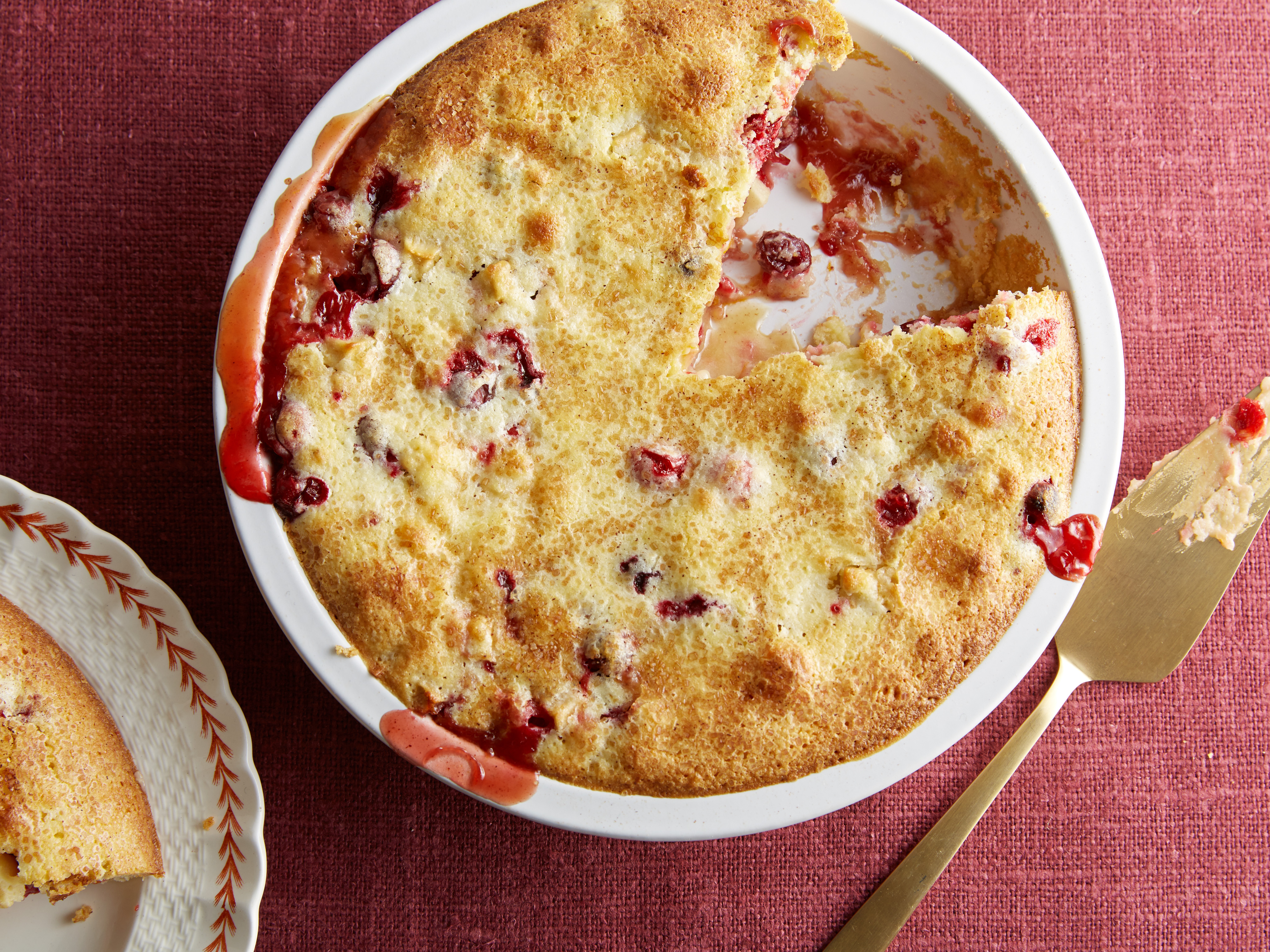 Ina Garten's Easy Cranberry and Apple Cake for Easy Desserts as seen on Food Network's Barefoot Contessa